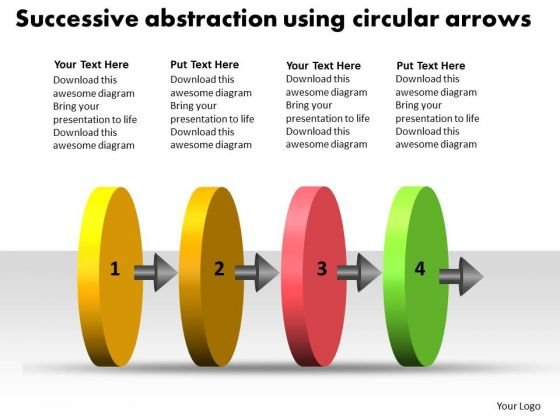 Successive Abstraction Using Circular Arrows Best Flowchart PowerPoint Slides
