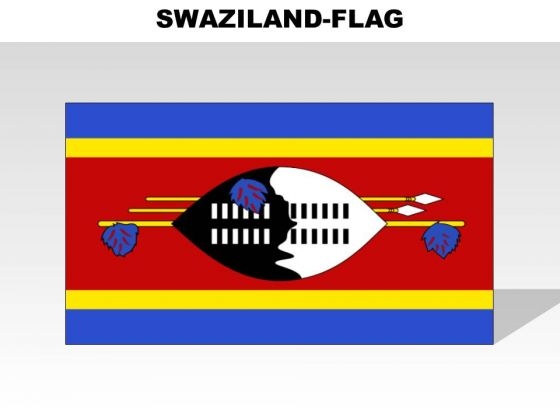 Swaziland Country PowerPoint Flags