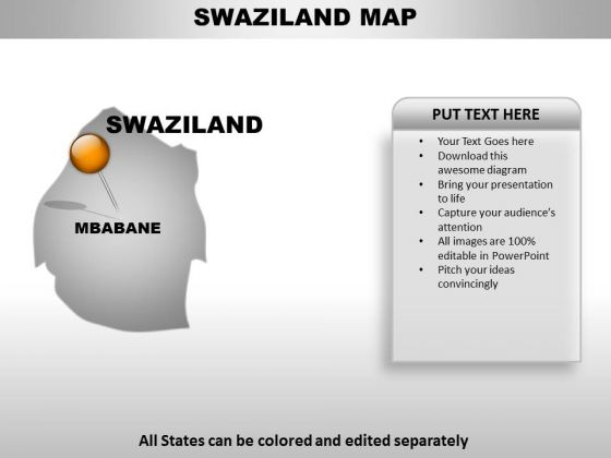 Swaziland Country PowerPoint Maps