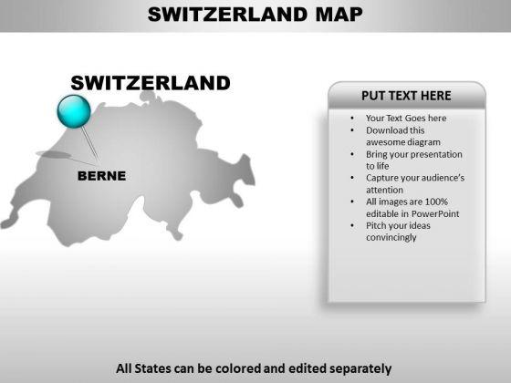 Switzerland Country PowerPoint Maps