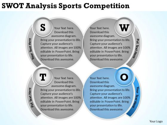 Swot Analysis Sports Competition Restaurant Business Plans PowerPoint Slides