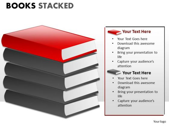 Symbol Books Stacked PowerPoint Slides And Ppt Diagram Templates