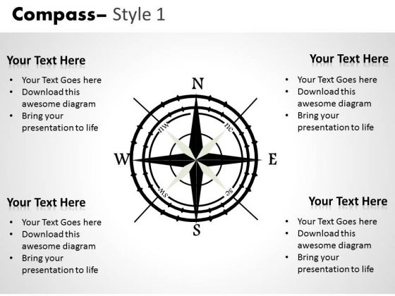 Symbol Compass 2 PowerPoint Slides And Ppt Diagram Templates