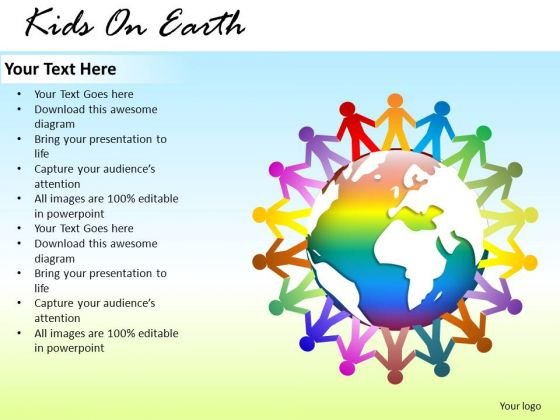 Symbol Kids On Earth PowerPoint Slides And Ppt Template Diagrams