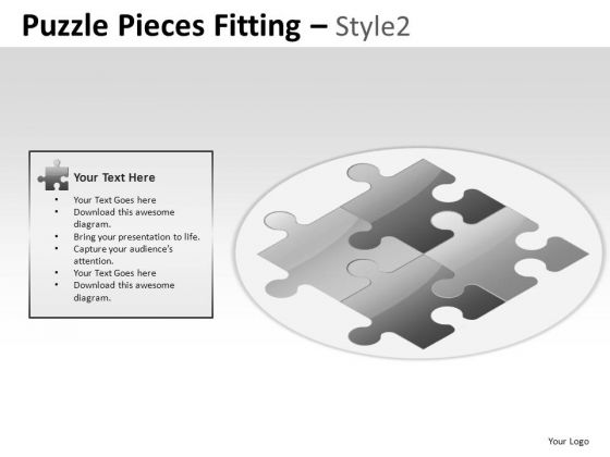 Symbol Puzzle Pieces Fitting PowerPoint Slides And Ppt Template Diagrams