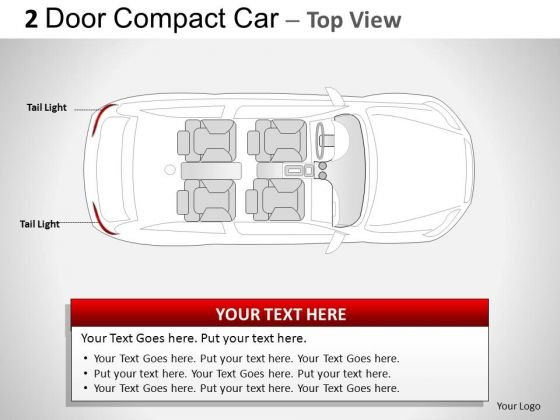 Symbol Traffic 2 Door Blue Car Top PowerPoint Slides And Ppt Template Diagrams