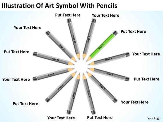 Symbol With Pencils Ppt How To Write A Business Plan For Small PowerPoint Templates