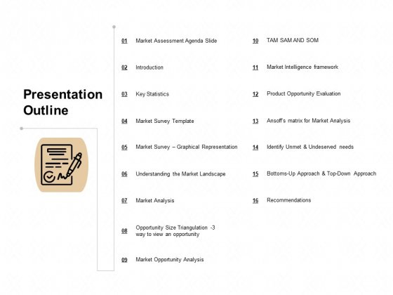 TAM SAM And SOM Presentation Outline Ppt Styles Icons PDF