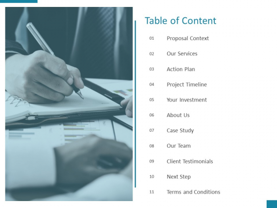 Table Of Content Action Plan Ppt PowerPoint Presentation Pictures Gridlines