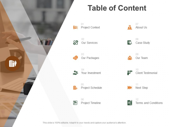 Table Of Content Investment Ppt PowerPoint Presentation Show Ideas