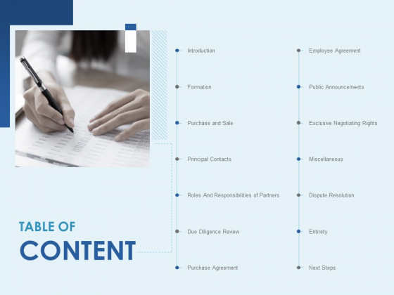 Table Of Content Miscellaneous Ppt PowerPoint Presentation Layouts Graphics Download