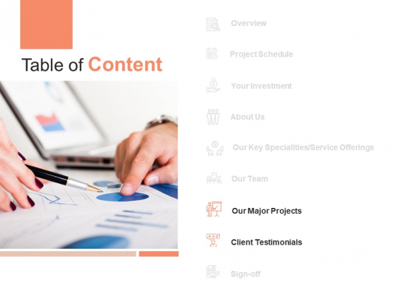 Table Of Content Our Team Ppt PowerPoint Presentation Topics