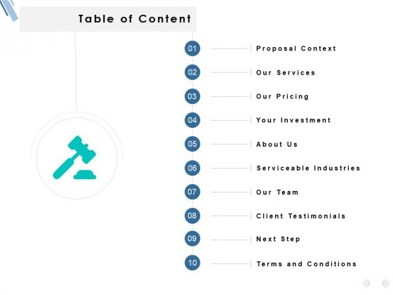 Table Of Content Ppt PowerPoint Presentation Icon Ideas