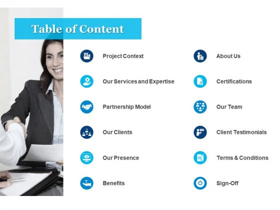 Table Of Content Ppt PowerPoint Presentation Icon Portrait