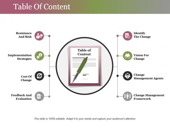 Table Of Content Ppt PowerPoint Presentation Ideas Layout