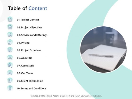 Table Of Content Ppt PowerPoint Presentation Ideas Portfolio