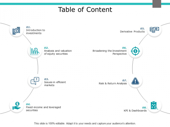 Table Of Content Ppt PowerPoint Presentation Model Demonstration