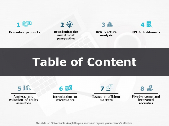 Table Of Content Ppt PowerPoint Presentation Model Outline
