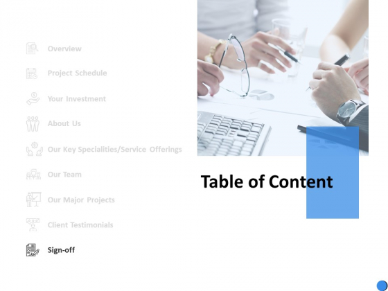 Table Of Content Sign Off Ppt Powerpoint Presentation Portfolio Icons