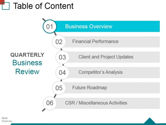 table of content template 1 ppt powerpoint presentation infographic