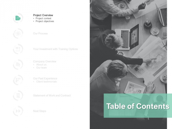 Table Of Contents Communication Ppt PowerPoint Presentation Summary Examples