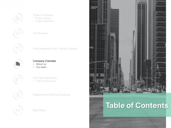 Table Of Contents Company Ppt PowerPoint Presentation Model Infographic Template