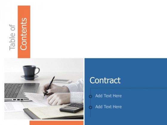 Table Of Contents Contract Ppt Powerpoint Presentation File Formats