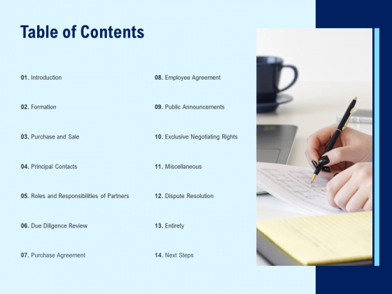 Table Of Contents Dispute Resolution Ppt PowerPoint Presentation Infographic Template Objects