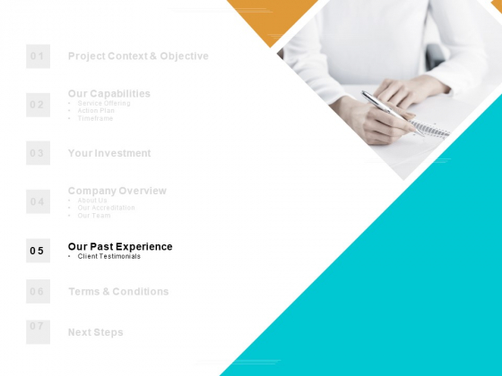 Table Of Contents Experience Ppt PowerPoint Presentation Inspiration Background Designs