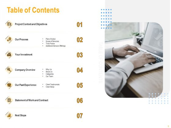 Table Of Contents Infographics PDF