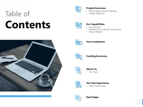 Table Of Contents Investment Ppt PowerPoint Presentation Summary Shapes