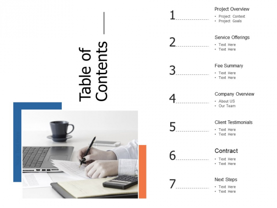 Table Of Contents Offerings Ppt Powerpoint Presentation Styles Elements