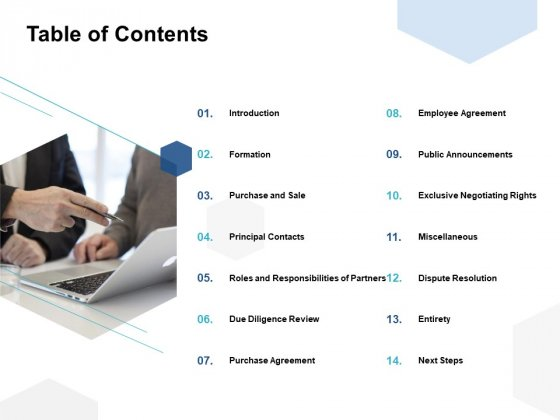 Table Of Contents Ppt PowerPoint Presentation File Diagrams