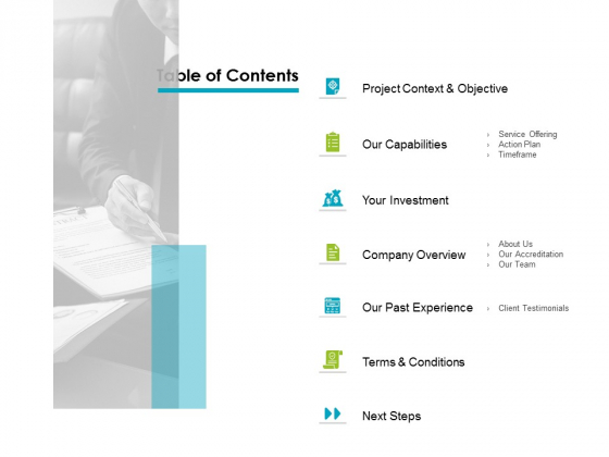 Table Of Contents Ppt PowerPoint Presentation Ideas Information