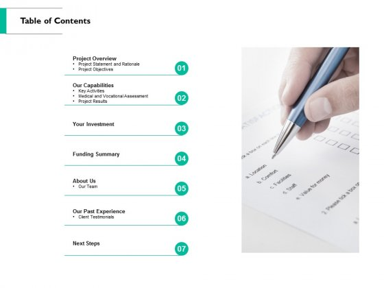 Table Of Contents Ppt PowerPoint Presentation Show Introduction
