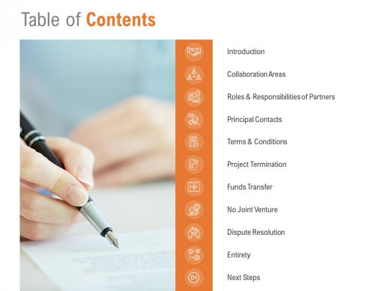Table Of Contents Ppt PowerPoint Presentation Show