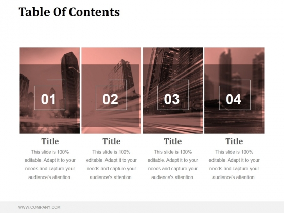 Table Of Contents Ppt PowerPoint Presentation Themes