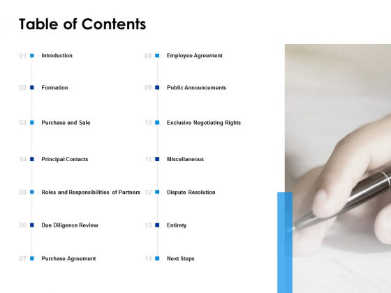 Table Of Contents Public Announcements Ppt PowerPoint Presentation Summary Shapes