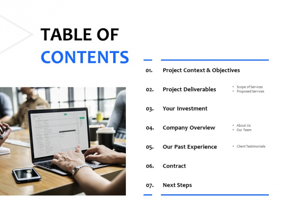 Table Of Contents Technology Ppt PowerPoint Presentation Show Clipart