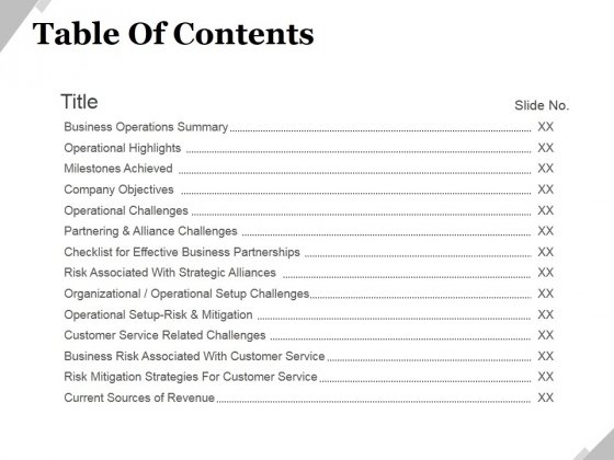 Table Of Contents Template 1 Ppt PowerPoint Presentation Icon Deck ...