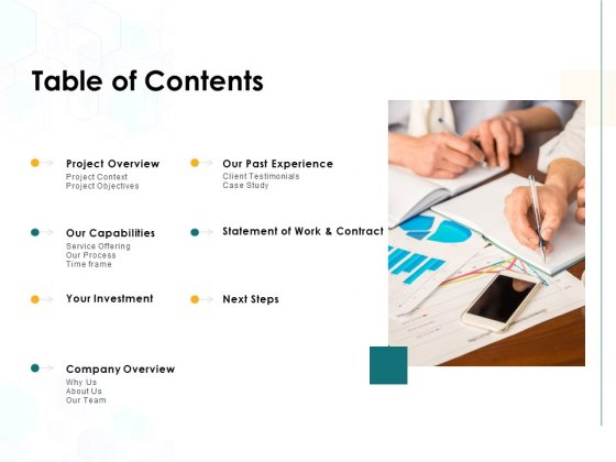 Table Of Contents Work And Contract Ppt PowerPoint Presentation Inspiration Format Ideas