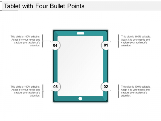 Tablet With Four Bullet Points Ppt PowerPoint Presentation File Slide Download