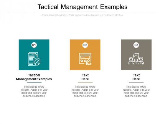Tactical Management Examples Ppt PowerPoint Presentation Ideas Objects Cpb