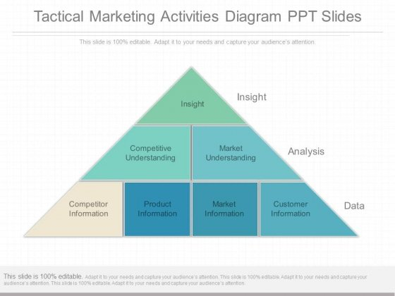 Tactical Marketing Activities Diagram Ppt Slides