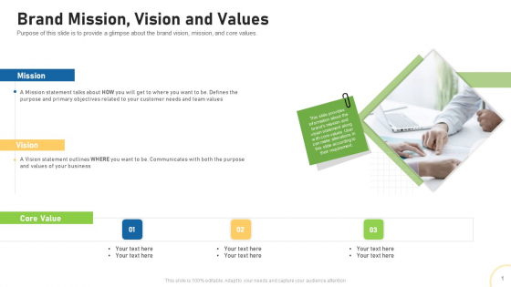 Tactical Plan For Brand Remodeling Brand Mission Vision And Values Ppt Outline Gallery PDF