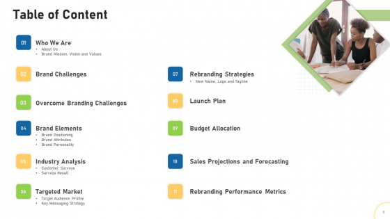 Tactical Plan For Brand Remodeling Table Of Content Ppt Gallery Layouts PDF