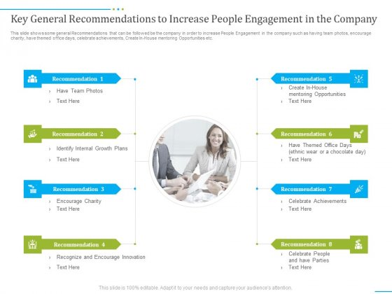 Tactics_To_Develop_People_Engagement_In_Organization_Key_General_Recommendations_To_Increase_People_Engagement_In_The_Company_Slides_PDF_Slide_1