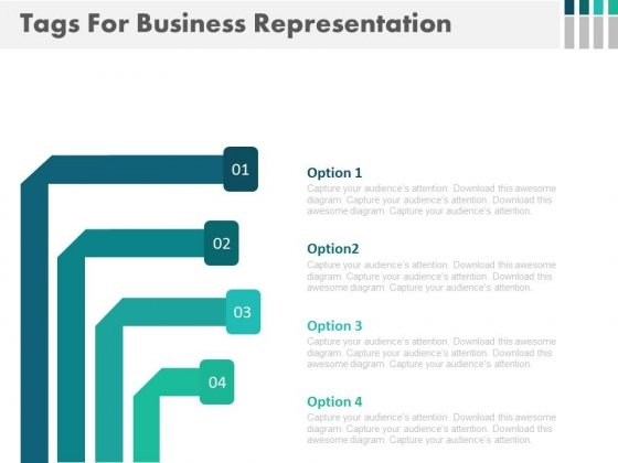 Tags For Business Options Display Powerpoint Template