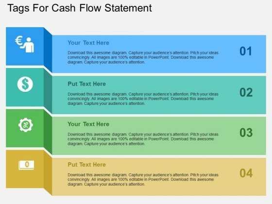 Tags For Cash Flow Statement Powerpoint Templates