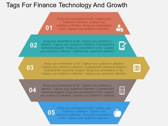 Tags For Finance Technology And Growth Powerpoint Templates